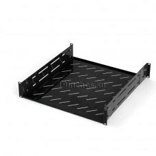 Полка для оборудования стационарная с отв для вентиляции 2U400, RAL9005