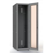 Шкаф серверный SC27U10, RAL7035, с 1-й дверью стекло закал, задняя и боковые стенки съемные