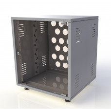 Рэковый шкаф, закрытый SDC-12U500 2.0 мм, RAL7035, дверь стеклянная