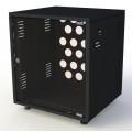 Рэковый шкаф, закрытый SDC-12U500, 1.2мм, RAL9005, дверь стеклянная