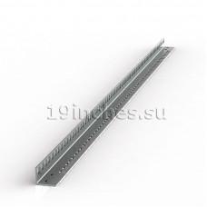 Монтажный профиль 19, 18U, L с двухсторонней перфорацией. Оцинкованная сталь 2.0мм.