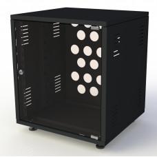 Рэковый шкаф, закрытый SDC-08U500, 1.5 мм, RAL9005, дверь стеклянная