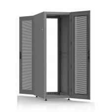 Шкаф серверный SC36U10, RAL7035, с 2-мя дверьми сталь перф, боковые стенки съемные