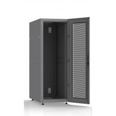Шкаф серверный SC33U10, RAL7035, с 1-й дверью сталь перф, задняя и боковые стенки съемные