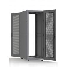 Шкаф серверный SC33U10, RAL7035, с 2-мя дверьми сталь перф, боковые стенки съемные