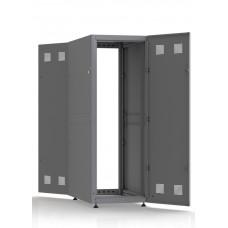 Шкаф серверный SC33U10, RAL7035, с 2-мя дверми сталь глухая, боковые стенки съемные