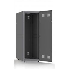 Шкаф серверный SC33U10, RAL7035, с 1-й дверью сталь глухая, задняя и боковые стенки съемные