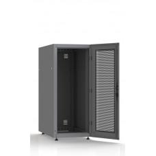 Шкаф серверный SC27U10, RAL7035, с 1-й дверью сталь перф, задняя и боковые стенки съемные