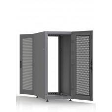 Шкаф серверный SC27U10, RAL7035, с 2-мя дверьми сталь перф, боковые стенки съемные