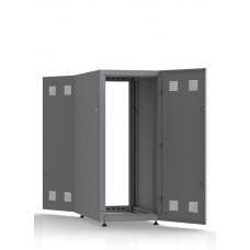 Шкаф серверный SC27U10, RAL7035, с 2-мя дверми сталь глухая, боковые стенки съемные