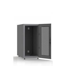 Шкаф серверный SC23U10, RAL7035, с 1-й дверью сталь перф, задняя и боковые стенки съемные