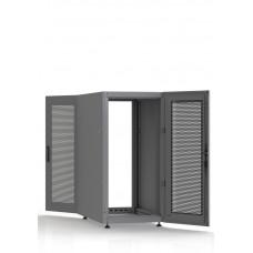 Шкаф серверный SC23U10, RAL7035, с 2-мя дверьми сталь перф, боковые стенки съемные