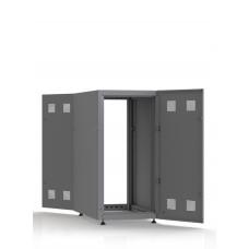 Шкаф серверный SC23U10, RAL7035, с 2-мя дверми сталь глухая, боковые стенки съемные
