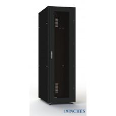 Шкаф серверный SC42U10, RAL9005, с 1-й дверью стекло закал, задняя и боковые стенки съемные
