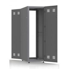 Шкаф серверный SC38U10, RAL7035, с 2-мя дверми сталь глухая, боковые стенки съемные