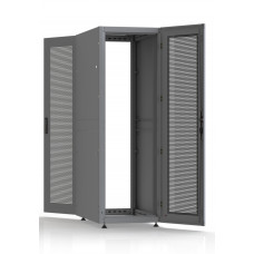 Шкаф серверный SC38U10, RAL7035, с 2-мя дверьми сталь перф, боковые стенки съемные