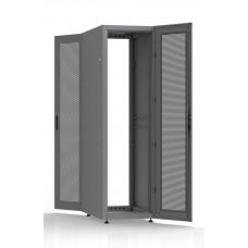Шкаф серверный SC42U10, RAL7035, с 2-мя дверьми сталь перф, боковые стенки съемные