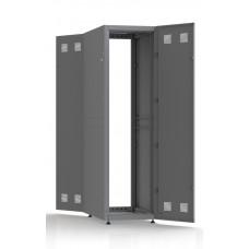 Шкаф серверный SC42U10, RAL7035, с 2-мя дверми сталь глухая, боковые стенки съемные