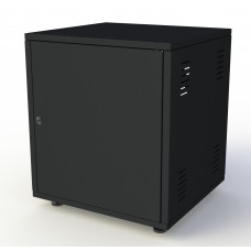 Рэковый шкаф, закрытый SDC-08U500, 1.5 мм, RAL9005, дверь стальная