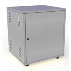 Рэковый шкаф, закрытый SDC-08U500, 1.5 мм, RAL7035, дверь стальная