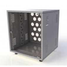 Рэковый шкаф, закрытый SDC-08U500, 1.5 мм, RAL7035, дверь стеклянная