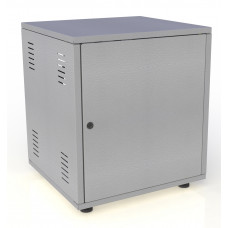 Рэковый шкаф, закрытый SDC-18U645, 2.0 мм, RAL7032, дверь стальная