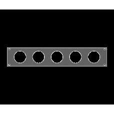 Задняя рэковая панель вентиляционная, 02U, A-SDR-019