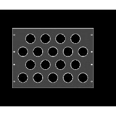 Задняя рэковая панель вентиляционная, 8U, A-SDR-020