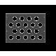 Задняя рэковая панель вентиляционная, 08U, A-SDR-020