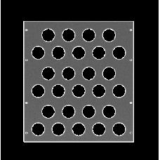 Задняя рэковая панель вентиляционная, 12U, A-SDR-021