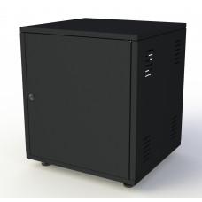 Рэковый шкаф, закрытый SDC-08U645, 1.5 мм, RAL9005, дверь стальная