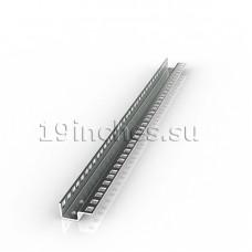 Монтажный профиль 19, 22U, ковш с двухсторонней перфорацией. Оцинкованная сталь 2.0мм.