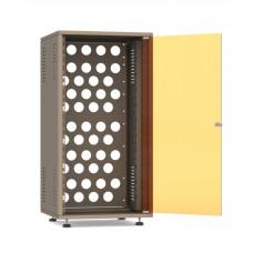 Рэковый шкаф, закрытый SDC-22U545, 1.2мм, RAL7035 дверь стеклянная